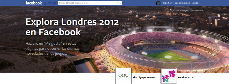 Explora Londres 2012 en Facebook.